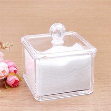 New Fashion Makeup Organizer Cosmetic Acrylic Clear Case Display Box Jewelry Storage Holder Casket Gift box Retail(China)