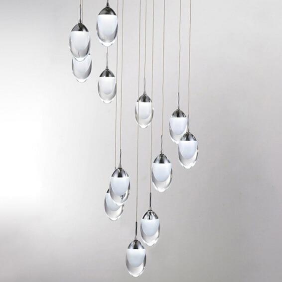 pendant lamps modern Acryl Minimalist Dinosaur eggs Led pendant lights bar cord pendant light Starry Diamond restaurants <br>