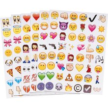 4PC Fun Cute Lovely Emoji Sticker 192 Die Cut Emoji Smile Face Vinyl Sticker for iPhone Laptop Tablet Decor Twitter Instagram