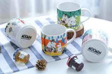 New Arrival 350ML Big Porcelain Ceramic Moomin Muumi Cartoon Cute Milk Breakfast Tea Coffee Mug Cup Collection Gift
