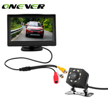 5 Inch TFT LCD Car Rear View Display Monitor Kit with Waterproof Night Vision Wide Angle Backup Parking Reversing Camera(China)