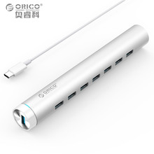ORICO ARH7-U3-SV Aluminum Round 7 Ports USB3.0 HUB for Apple Laptop MAC Perfectly - Silver