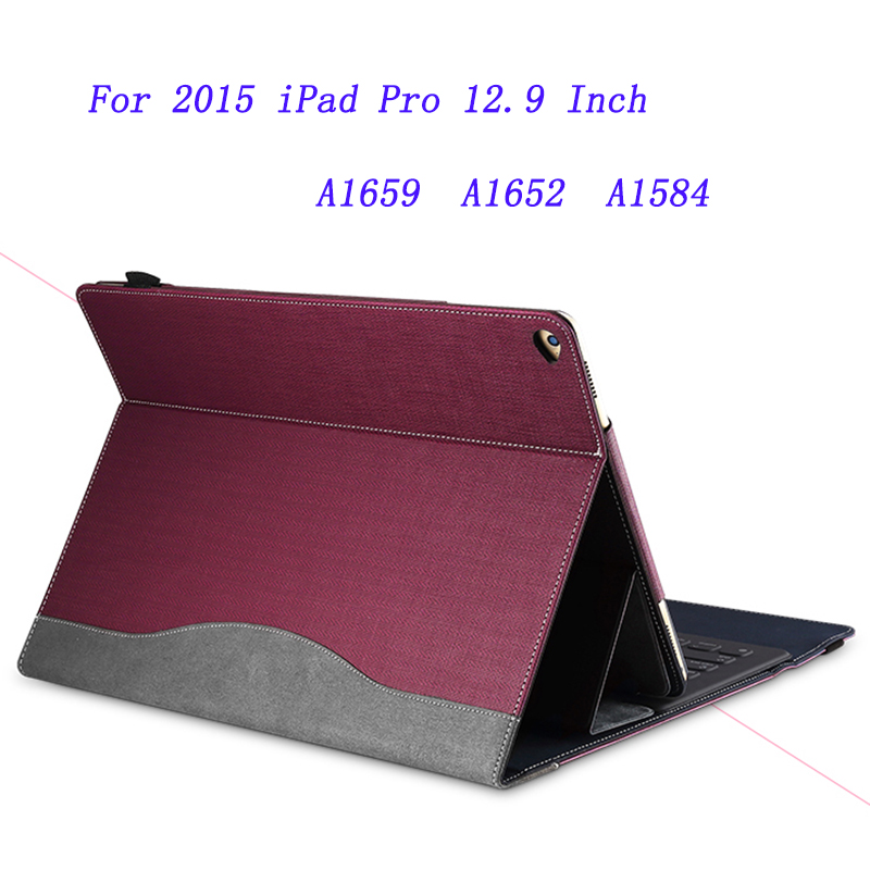 PU Leather Sleeve For iPad Pro 12.9 Inch 2015 Tablet PC Protective Cover/Skin/Shell For A1659 A1652 A1584 Stylus As Gift<br>