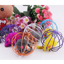 New Funny Toys False Mounse in Rat Cage Ball for Pet Cat Kitten Playing Cage Ball Toy for Pets(China)