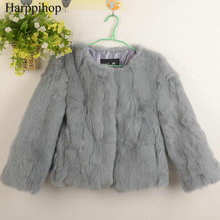 Free Shipping Genuine Rabbit Fur Coat women full pelt rabbit fur winter natural fur jacket free custom plus size any color(China)