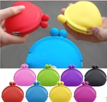 Storage Bags 100pcs/lot + mix colors Japanese Pochi Silicone Coin Purse ,silicone purse wallet(China)