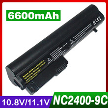 6600mAh Laptop Battery For HP 2533t Mobile Thin Client EliteBook 2540p 2530p For COMPAQ 2400 nc2400 nc2410 2510p KU529AA RW556AA(China)