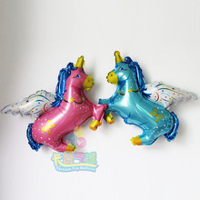 HOT small size 10pcs/lot mini flying horse foil balloon air cartoon ballons Party supplies decoration inflatable air globos