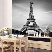 Custom Canvas Art France Paris Poster Paris Wallpaper Eiffel Tower Wall Stickers Eiffel Tower Mural Bedroom Decoration(China)