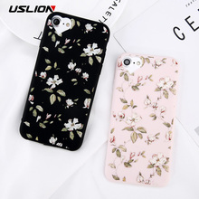 Buy USLION iPhone 7 8 Plus Phone Case Painted Flower Leaves Soft TPU Back Cover Love Heart Cases iPhone 6 6s Plus 5 5s SE for $1.52 in AliExpress store