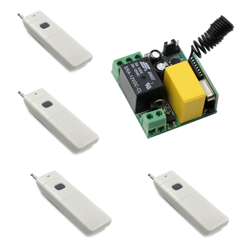 AC 220V 1CH 10A Wireless Relay Switch Remote Control Switch Radio Light Switch Receiver 3000M Long Range Transmitter<br>