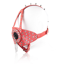 Buy 2017 New Punk Rivets Red Leather Oral Mouth Gag Erotic Toys Bondage Cosplay BDSM Erotic Toys Adult Games Sex Toys Couple