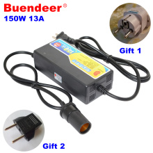 Buendeer car cigarette lighter AC adapter 110V/220V/240V to 12V high power converter transformer 13A 150W for refrigerator/pump(China)