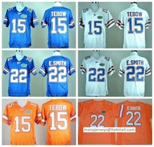 College Florida Gators Jerseys Cheap 15 Tim Tebow Jersey Blue Orange White 22 E.Smith 6 Jeff Driskel Embroider Logos