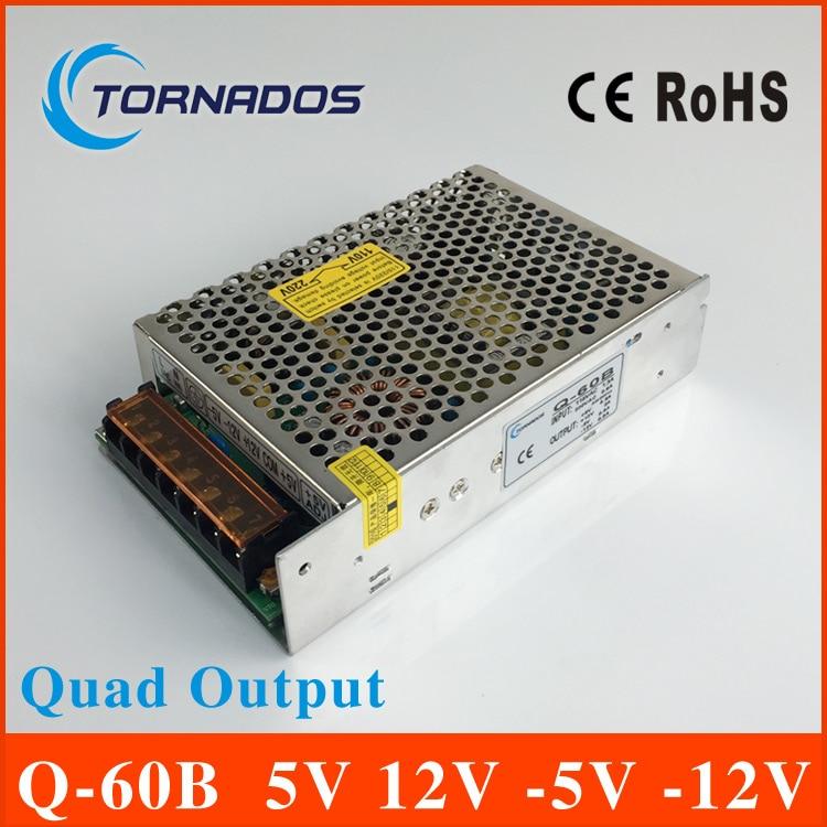 quad output power supply 60W 5V 12V -5V -12V power suply Q-60B multiple output ac/dc power supply<br>