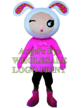 pink bunny mascot costume cute rabbit custom cartoon character cosplay carnival costume SW3123