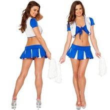 Excited Sport Dress Style Glee Cheerleading Uniforms Sexy Dress Uniform Adult Girls Cheerleader Costume