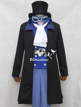 Full set Anime sabo from One Piece Cosplay Costume coat vest shirt pant tie uniform set