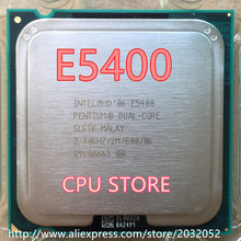 lntel E5400 Desktop computer processor  used cpu dual core 2 Duo Cpu 2.7GHz 2MB/800MHz LGA 775  working 100%