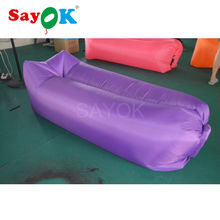 inflatable air sofa 260*70cm air lounger sofa cum bed chair inflatable air couch sleeping bag for adult