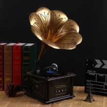 watches Decoration Art quartz European antique gramophone gramophone machine model props bar Home Furnishing decoration decorati(China)