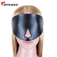 Buy Morease Sexy Eye Mask Blindfold Bondage Bdsm Restraints PU Leather Fetish Slave Erotic Cosplay Adult Game Sex Toys Product