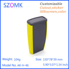 1 pc, 150*78*39mm high quality abs plastic handheld enclosure for 2x AA battery szomk china market of electronics project box