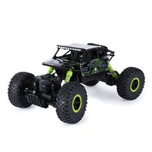 Hot Sale RC Car 2.4Ghz 4WD 1/18 4 Wheel Drive Rock Crawler Rally Car 4x4 Double Motors Bigfoot car Off-Road Vehicle Toys(China)