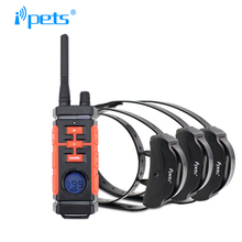 Ipets PET616-3 New Hunting Waterproof and Rechargeable Dog Trainig Shock Collar / Dog Electric Barking Collar for 3 dogs