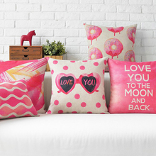 LOVE letters Decorative Cushion Covers Valentine's Day pink Sofa Pillow birthday gift Tanabata Pillow Cover  Housse De Coussin