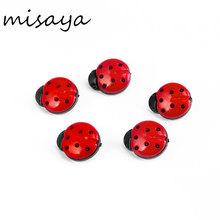Misaya 100pcs Jeans Button Flower Ladybug Mushroom Button Plastic Buttons For Sewing Garment Supplies Accessory Diameter 15mm(China)