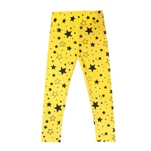 2015 New Children Pants Girl Winter Capris Warm Stretchy Star Casual Trousers Toddler Pants 2-7Y Free Shipping