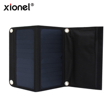 Xionel Solar Charger Bag 14W Solar Battery Sunpower Cell Panels Solar Powenbank for Mobile(China)