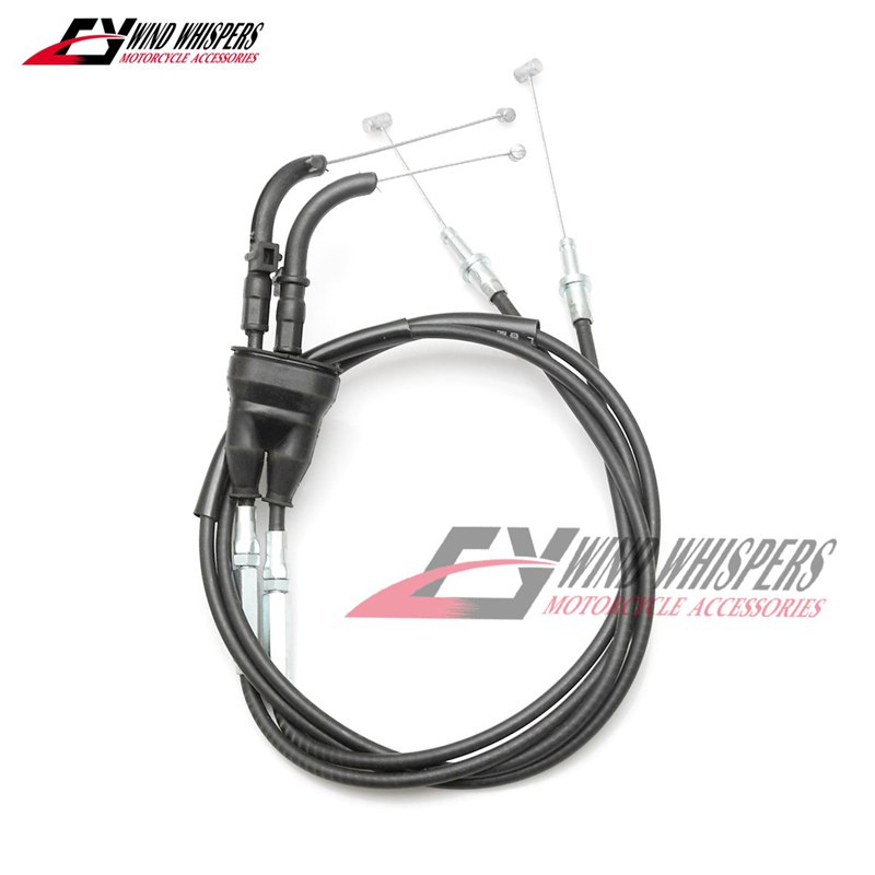 AS3 VENHILL FEATHERLIGHT THROTTLE CABLES BLACK to fit KAWASAKI ZX6R 2007-2008