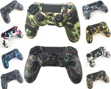 Durable Camouflage Camo Silicone Gel Rubber Soft sleeve Skin Grip Cover Case For Playstation 4 PS4 Pro PS4 Slim Gamepad Protect(China)