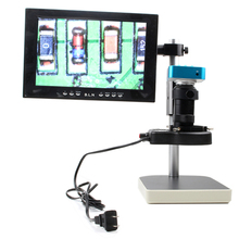 free shipping 16MP HDMI Output Video Digital Microscope Camera With LED light for Electronic phone Computer Repair tools(China)