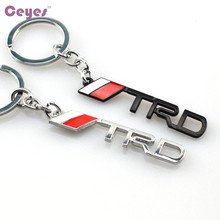 Car-Styling 3D Development Logo Metal Emblems Badge Car Styling Case For Toyota Trd Racing Prius Verso hilus Yaris Car Stickers(China)