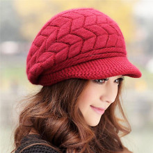 New Hats For Women Knitted Girl Caps Woolen Beanies With Velvet Keep Warm Cap Spring Autumn Winter Woman Gorras Hot HAT
