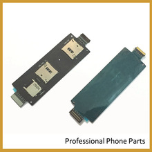 For ASUS ZenFone 2 5.5 Inch ZE551ML ZE550ML Original SIM Card Reader Holder Connector Slot Flex Cable Replacement With Logo