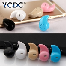 YCDC 1PC Mini Wireless Bluetooth Headset Ultra small Earphone Microphone Safe Driving Invisible Design Stereo Headset Black(China)
