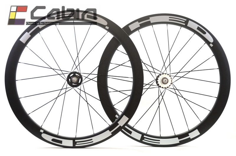 carbon wheels 700C flip flop hub,black or red 50mm Tubular fixed gear track