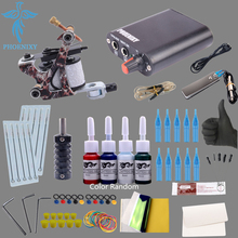 Tattoo Kit 1pcs Tattoo Machine & 4 Color Tattoo Ink & 10pcs Needle Beginner Tattoo Kit Tattoo Machine Power 8 Wrap Coils Guns