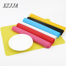 Hot Sale 40x30cm Silicone Eco-friendly Coasters Mat Baking Liner Best Silicone Oven Mat Non Slip Pad Bakeware Kid baby Placemats