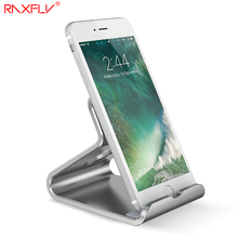 RAXFLY Universal Phone Stand Holder For iPhone 6 6S Aluminum Metal Desk Bracket Holder For iPhone 6 7 Huawei Mate9 Samsung S8 S7(China)