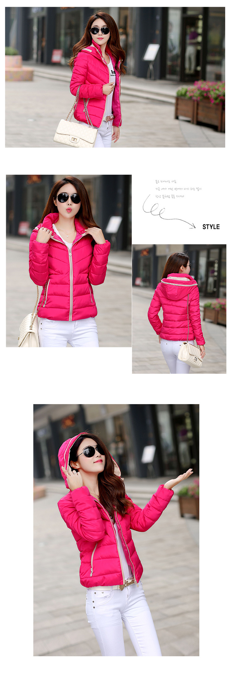 Plus size Parkas For Women Winter Fashion Jacket Women's Thicken Outerwear Hooded Coats Short Female Slim Parkas mujer invierno