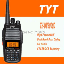 DHLFreeship+2sets TYT TH-UV8000D Handy Talkie Radio 10W Uhf Vhf Dual Band Midland Radio 2 Way Communication with 3600mah battery