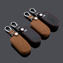 Top Quality car styling cover Leather keys bag cases chain Keychain intelligent For JCUV Dart Journey Chrysler 300C 1pc