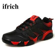 2017 Running Shoes For Men All Seasons Men Athletic Shoes Red/Black Sneaker Sport Men Comfortable Walking Shoes For Man