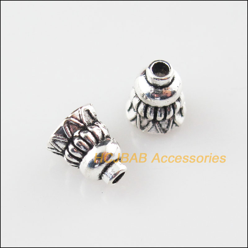 100Pcs Tibetan Silver Flower Spacer Beads For Jewelry Making DIY 5.5x6.5mm