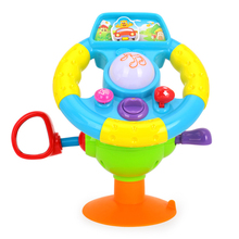 Baby Car Toy Learning Driving Steering Wheel Play Light Sound Music Toddler Gift(China)